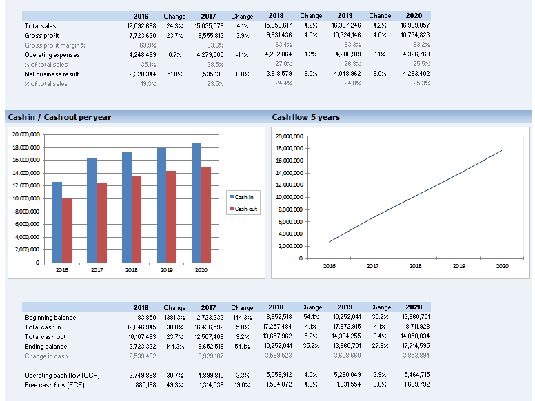Non Profit Financial Dashboard